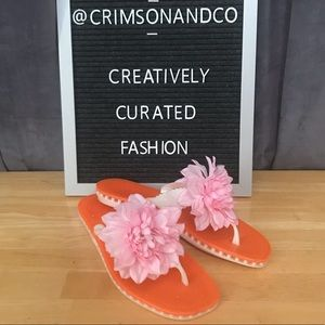 Kate Spade Bella flower jelly flip flop sandals 11